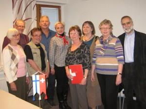 Keski-Suomen paikallisoaston hallitus, Mia Lanz ja Daniel Loosli, Eidg. JOdlerverband, esitelmätilaisuudessa 24.4.2014