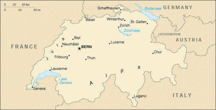 Sveitsin Maantiede Liikenteen Lapikulkumaa Keskella Eurooppaa
