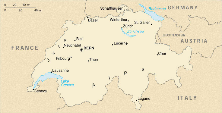 Sveitsin kartta