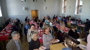 Raclette-iltaan osallistui 72 henkilöä.