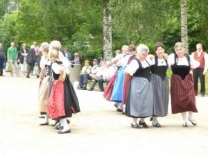 Trachtengruppe Schwargenegg vieraili Mikkelissä, kuva: Tuija Turunen