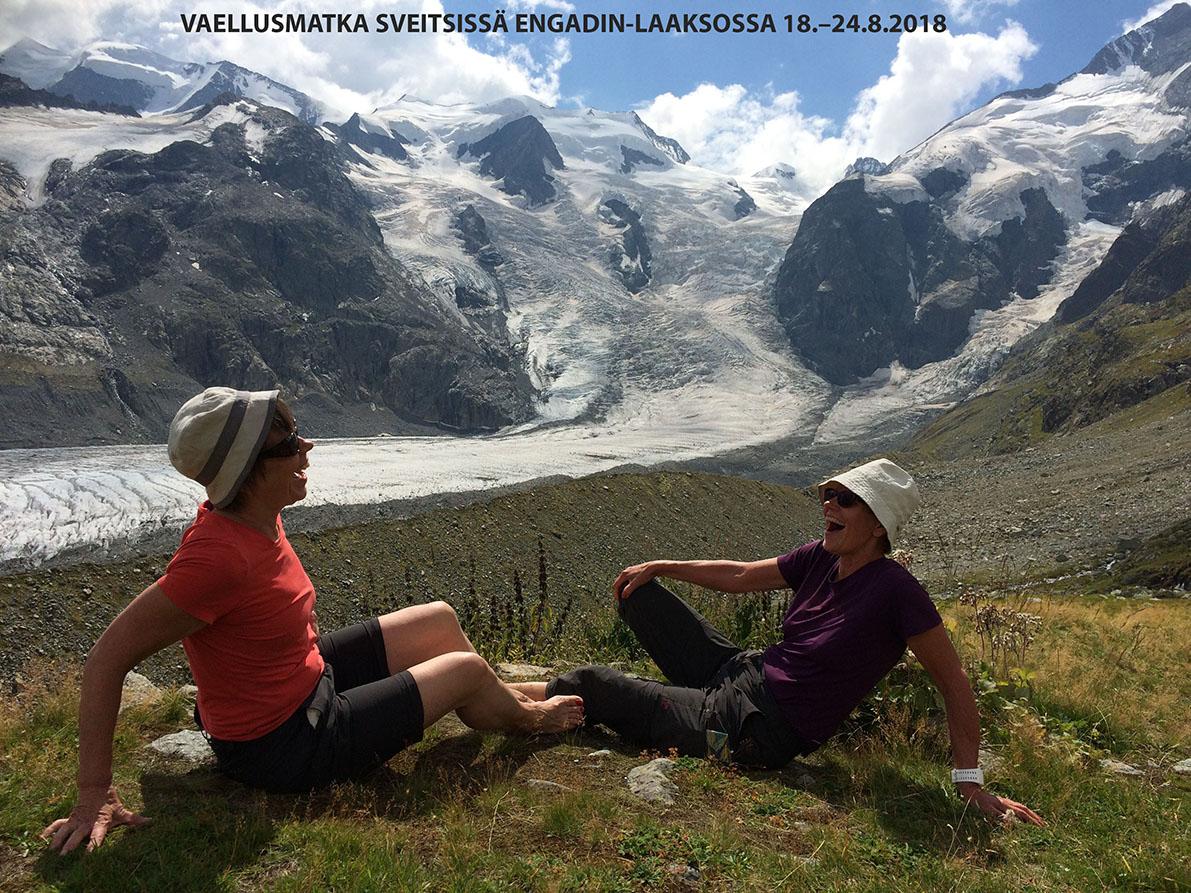 Vaellus Sveitsissä Engadin-laaksossa 18. – 24.8.2018